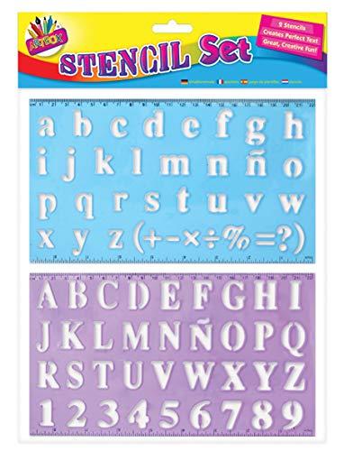 Art Box Alphabet Schablonen-Set