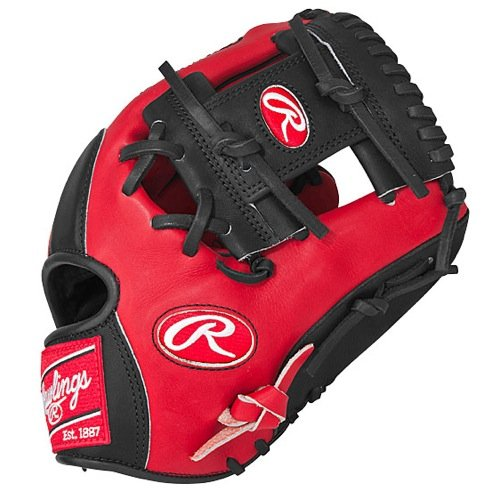 Rawlings Herz der Hide Color Series Infield Baseball Handschuhe (Pro I Web)..., unisex, rot