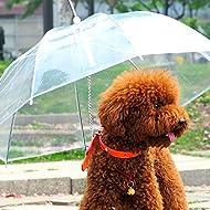 Pet Dog Umbrella Transparent Waterproof Keeps your Pet Dry Comfortable in Rain