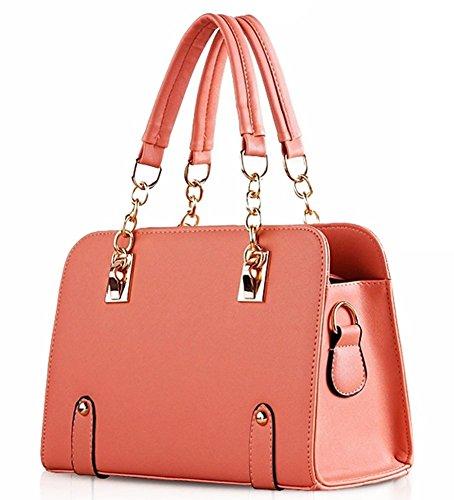Padgene Damen Handtasche Schultertaschen Shopper Tragetasche (Weiß) Rosa