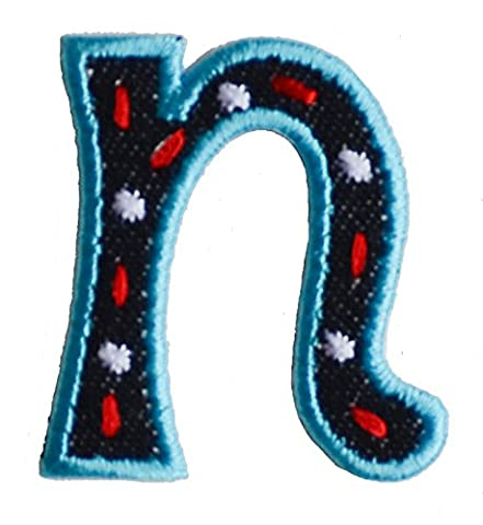 TrickyBoo iron-on fabric smallcase letter n101, 4-5cm personalizes birth applique embroidered name idea Running round Pharmacists Doctors Dragonflies Fish Aquatic Whales Teddy letters fabric decor kid baby name gift toddler blue green red pink white stripe big small cm inch alphabet ABC craft sew on iron personal personalized a b c d e f g h i j k l m n o p q r s t u v w x y z 2016 word wool woodland wonder womens women wolf with wild wholesale western volkswagen vests vest velcro varsity