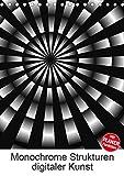 Monochrome Strukturen digitaler Kunst (Tischkalender 2019 DIN A5 hoch): Grafiken in Schwarz und Weiß (Planer, 14 Seiten ) (CALVENDO Kunst)