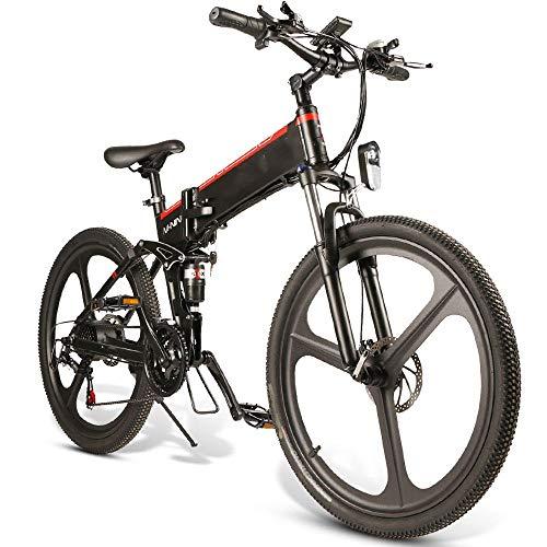Mountain-Bike e 10.4Ah 48V 350W pieghevole bici del ciclomotore elettrico 26 pollici intelligente bicicletta pieghevole 35 kmh Velocità massima 80 km di distanza in miglia Carico 150kg ricarica del si
