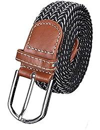 Samgu Loisirs Mode hommes occasionnel tressé élastique ceinture Unisex Men  Women Stretch Belt 5bc238fe849