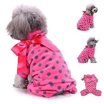 Chiens Textiles et Accessoires,Pyjama en Peluche Chien De Mode VêTements Chaud VêTements Chiot VêTements VêTement,Chiens Chemises (S, Rose Vif)