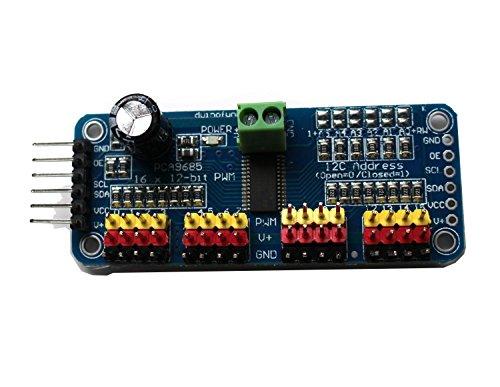haoyishang pca968516-Kanal 12-bit PWM Servo Motor Driver IIC Schnittstelle Modul für Arduino Roboter Raspberry Pi Shield Modul - 6