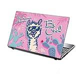 TaylorHe Folie Sticker Skin Vinyl Aufkleber mit bunten Mustern für 15 Zoll 15,6 Zoll (38cm x 25,5cm) Laptop Skin Tropisches Lama, lustig