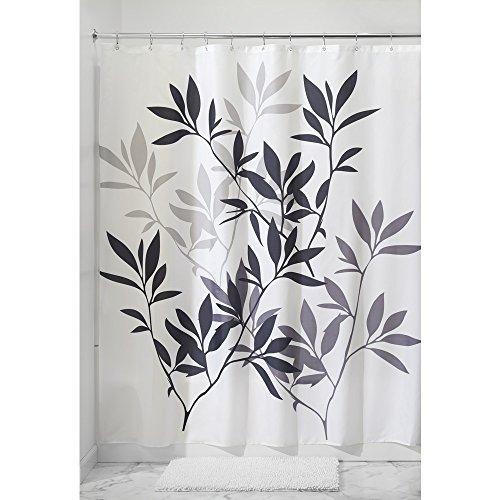 interdesign-leaves-fabric-shower-curtain-183-x-183-cm-black-gray-white