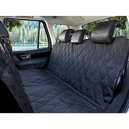 Mosie Luxus Pet Sitzbezug mit Sitz ANKER für Autos Trucks Schwarz Wasserdicht Nonslip Unterstützung (Unterstützung Luxus)