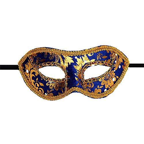 Macxy - Halloween-Maske Venetian Masquerade Halloween Masken Scary Halloween Mascara Weibliche Partei-Schablone Kamen Partei [blau 2pc]