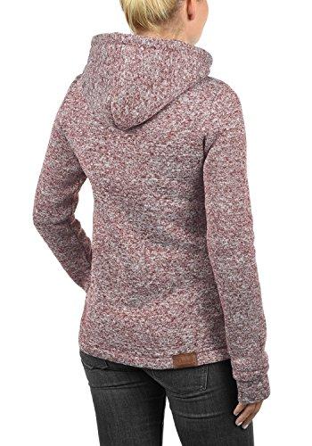 DESIRES Thory Damen Fleecejacke Sweatjacke Jacke Mit Kapuze Und Daumenlöcher, Größe:M, Farbe:Wine Red (0985) - 3