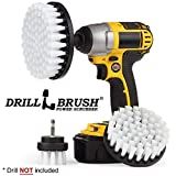 Drillbrush Nuovo cambio rapido del pozzo 3 Soft Pack White Carpet, Tappezzeria, cuoio Scrub Pennelli cm024 bianca