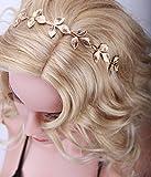 LI&HI Vintage Retro Griechisch elegant Damen Süß Forest Queen verlässt Haarbander Haarbänder Stirnband Haarreif Haarbänder Haarschmuck Stirnschmuck Hochzeit Haar wrap (Vollkreis Blätter) -
