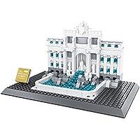 Fontana di Trevi. Modelo de arquitectura para armar con 667 bloques