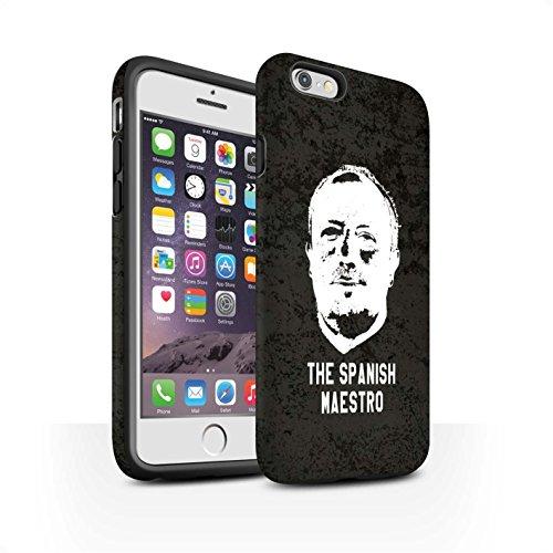 Officiel Newcastle United FC Coque / Matte Robuste Antichoc Etui pour Apple iPhone 6 / Pack 8pcs Design / NUFC Rafa Benítez Collection Maestro Espagnol