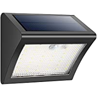 Luce Solare 38 LED Lampada Solari,Esterna Energia Solare con Sensore di Movimento, Wireless Impermeabile 3 Modalità di Movimento Attivato di Sicurezza per Patio, Ponte, Cortile, Giardino, Vialetto, Parete Esterna - iPosible