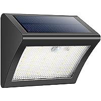 [Patrocinado]Luces Solares,Foco Solar 38 LED,1500mAh Lámparas Solares de Pared Impermeable,Luz de solar,Luces de Exterior con Sensor de Movimiento Batería Solar Exterior 3 Modos para Jardín,Patio,Camino,Escalera- iPosible