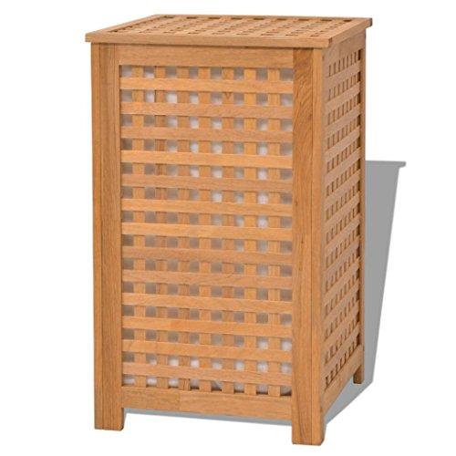 vidaXL Cesto para ropa sucia madera...