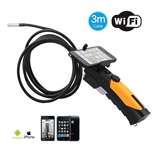 Minidiva Wifi Endoskop Inspektionskamera mit 8,5 mm Durchmesser 3 Meter Schlauch Unterstützung IPad IPhone IOS Android
