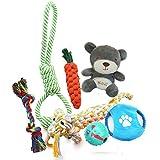 Bowada Puppy Spielzeug Hund Spielzeug Geschenk-Set mit interaktiven Spielzeug, Fribees, Chew Spielzeug, Bälle, Plüschtiere für kleine und mittlere Hunde 5 PCS