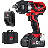 NoCry 20V Cordless Impact Wrench Kit - 400 N.m Torque, 1/2 inch