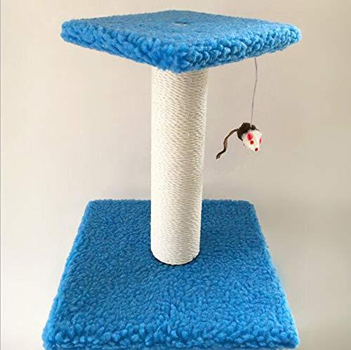 Yinmiaomiao Gato Que Sube El Marco/La Plataforma del Gato con El Rasguño Cubierto Sisal Y Los Juguetes Que Cuelgan De Los Ratones/Poste del Rasguño,Blue
