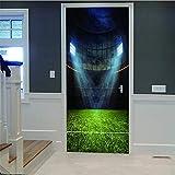 3D Tür Wandaufkleber Unter Dem Licht Gericht Diy Wandbild Schlafzimmer Vinyl Abnehmbare Tür Aufkleber Poster Für Zuhause Schlafzimmer Dekoration Kunst Wohnzimmer (77X200 Cm) Autocollants