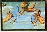 Adventskalender mit Goldfolienprägung- Doppelkarte mit Briefumschlag ca. 17 x 11,5 cm - 3 Engel mit Pfeil und Bogen