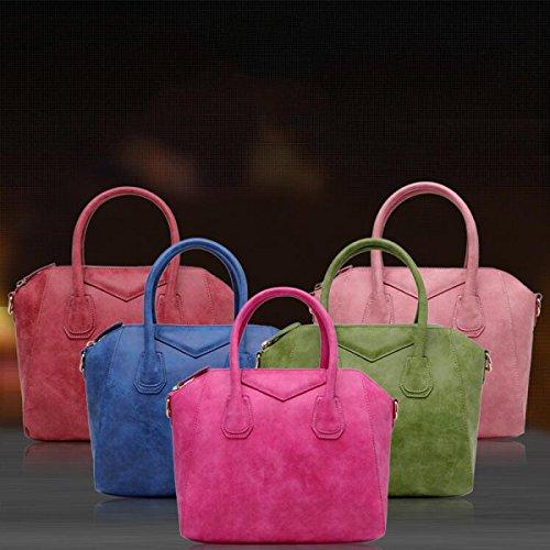 Spalla Borsetta Borsa Diagonale Borsa Moda Shell Signora,Pink fruitgreen