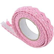 honeysuck cinta adhesiva decorativa de encaje adorno rosa