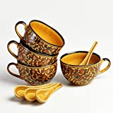 Heritage Jumbo Soup Bowls - Set of 4 Bowls with Spoons