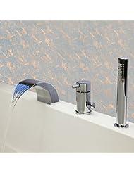 DuZiShi-slt Todo el cobre, grifo de la bañera, 3 sistemas, grifo separado de la cuenca