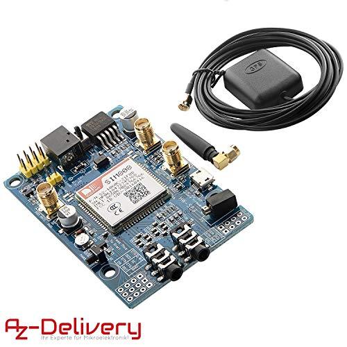AZDelivery SIM 808 GPRS/GSM Shield mit GPS Antenne für Arduino und GRATIS eBook!