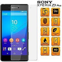 Sony Xperia Z3 Dual SIM + Plus E6533 - de pantalla de cristal templado anti-a los arañazos HD a prueba de golpes Lote de 9 horas dureza Protector de 0,3 mm