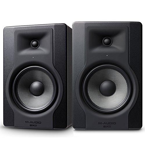M-Audio BX8 D3 Paar - Professionelle 2-Wege Aktiv Studiomonitor und PC Lautsprecher 8 zoll woofer, 150 W für Musikproduktion und Mixing mit eingebauter Acoustic Space Control, 2 Stück