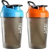Combo Of 2 (500ml + 500ml) Blue + Orange Life Is A Sport Shaker Bottle, Protein Shaker | Sipper Bottle | Gym Bottle | Water Bottle | Good Quality Shaker Bottle For Both Men's / Women's / Boy's / Girl's Pack Of 2 (500ml + 500ml) Shaker, Bottle, Sipper