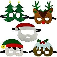 Gudotra 10pz Maschere di Natale Feltro per Bambini Adulti Mascherata per  Festa di Natale con Corda fb79964222c7