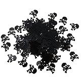 FLAMEER 15g Schädel Plastikkonfetti Tischkonfetti Streudeko Tischdeko für Halloween - 3