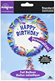 Anagram International Luftballon, Happy Birthday, personalisierbar, 45,7 cm