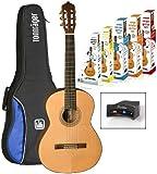 La Mancha Guitar Set Rubi CM Konzert-Gitarre 4/4 inkl. Zubehörpaket, natur
