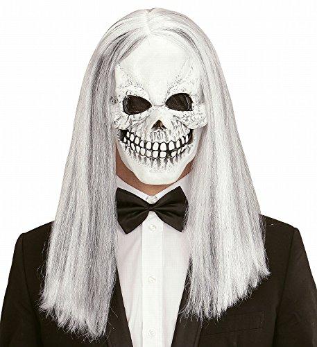 Widmann vd-wdm01017 maschera teschio con parrucca, taglia unica