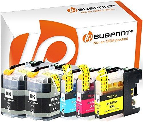 Bubprint 5 Druckerpatronen kompatibel für Brother LC-22 U LC-22E MFC-J 5920DW DCP-J785DW