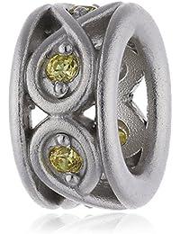 Endless 41353-4 - Abalorio de plata con circonita