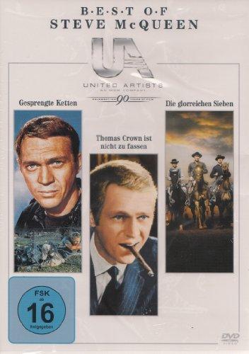 Bild von Steve McQueen Box : Gesprengte Ketten - Thomas Crown ist nicht zu fassen - Die glorreichen Sieben - 3 DVD Box