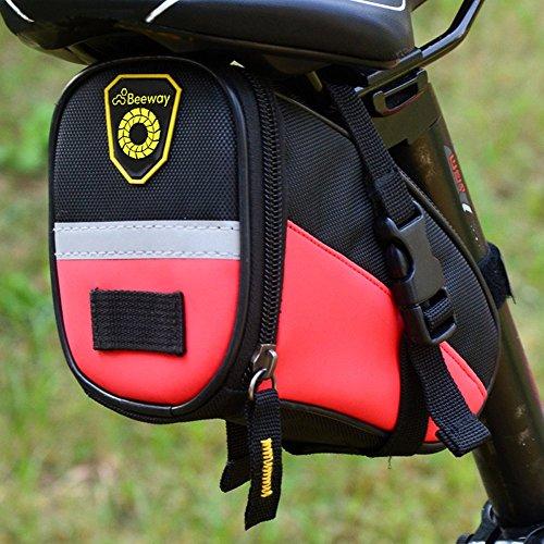 beeway® Bike Satteltasche, Outdoor Cycling Mountain Fahrrad Rücksitz Pack Aufbewahrungstasche–Wasser Resistent, Farben rot - rot