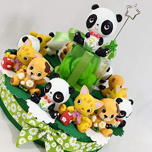 Torta bomboniere animaletti Simpatici Ideali per bomboniere Battesimo Nascita Bimbo Maschietto (1 torta 35 fette 3 piani)
