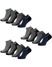 4, 8 oder 12 Paar Herren Sneakersocken Kurzsocken Sneaker Socken mit Komfortbund in 39-42 oder 43-46