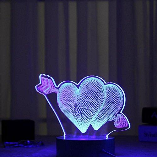Decoraciones de Navidad Wonderful 3D Night Light Eye Protection Lamp , k