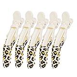 5x Singolo Coccodrillo Di Plastica Clip Di Capelli Delle Donne Forcelle Fermaglio - Leopardo
