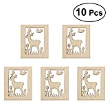VORCOOL 10 Stück unvollendete Holz Ausschnitt Chips für Brettspiel Stücke Kunsthandwerk Projekte Ornamente